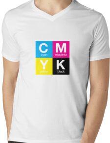 CMYK 11 Mens V-Neck T-Shirt