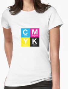 CMYK 11 Womens Fitted T-Shirt