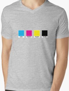 CMYK 13 Mens V-Neck T-Shirt