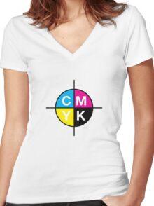 CMYK 14 Women's Fitted V-Neck T-Shirt