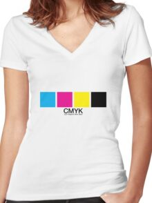 CMYK 15 Women's Fitted V-Neck T-Shirt