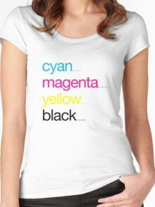 CMYK 17 Women's Fitted Scoop T-Shirt