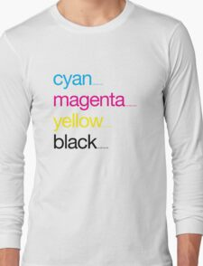 CMYK 17 Long Sleeve T-Shirt