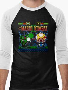 Mario Kombat II Men's Baseball ¾ T-Shirt