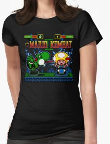 Mario Kombat II Womens Fitted T-Shirt