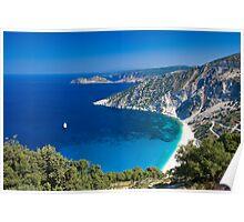 Myrtos Beach, Kefalonia, Greece Poster