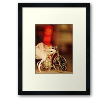 Bokeh Bicycle Framed Print