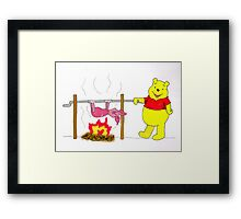 Winnie the Pooh's Spitroast Supper Framed Print