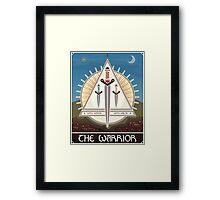 The Warrior Tarot Card Framed Print