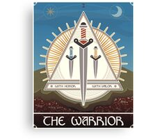 The Warrior Tarot Card Canvas Print
