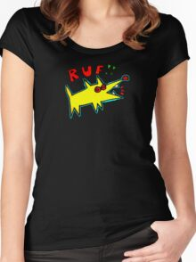 Poinky Ruf!! (Dawg for dark colored T-shirt) Women's Fitted Scoop T-Shirt