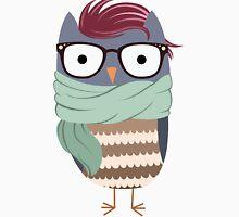 Hipster Owl Transparent Background Unisex T-Shirt