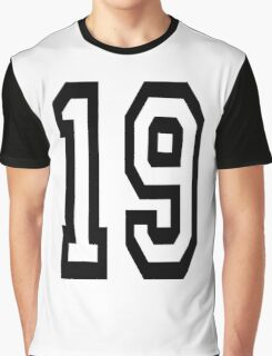 19, TEAM SPORTS, NUMBER 19, NINETEEN, NINETEENTH, Competition,  Graphic T-Shirt