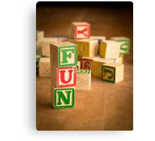 FUN - Alphabet Blocks Canvas Print