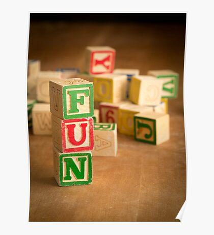 FUN - Alphabet Blocks Poster