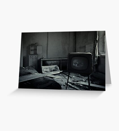 Too Much TV Will Kill You Greeting Card