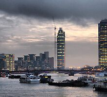 London skyline by Maria Tzamtzi