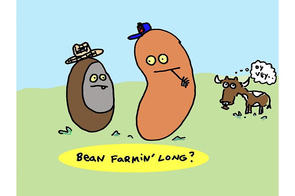 Bean Farmin Long?   (card/print) by Ollie Brock