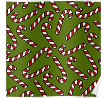 Candy Cane Pattern Poster
