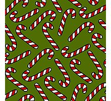 Candy Cane Pattern Photographic Print