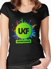 UKF-Drum And Bass Women's Fitted Scoop T-Shirt