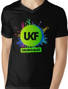 UKF-Drum And Bass Mens V-Neck T-Shirt