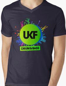 UKF-Drum And Bass Mens V-Neck T-Shirt