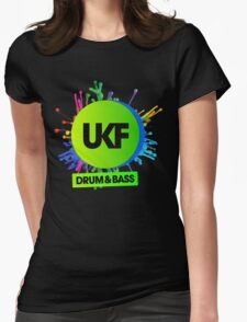 UKF-Drum And Bass Womens Fitted T-Shirt