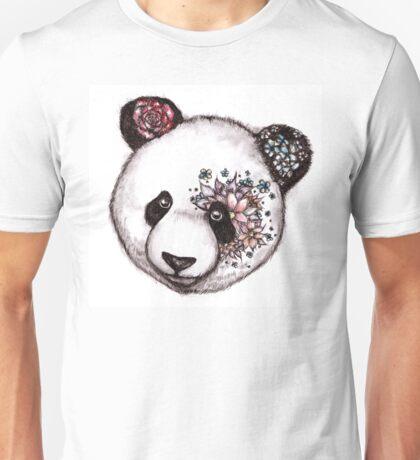 Floral Panda Unisex T-Shirt