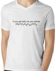 if you get with me you will be *cummingtonite* Mens V-Neck T-Shirt