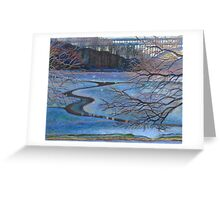 Water Reflections by Henry Hudson Bridge Greeting Card