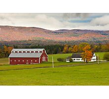 Vermont Farm Photographic Print