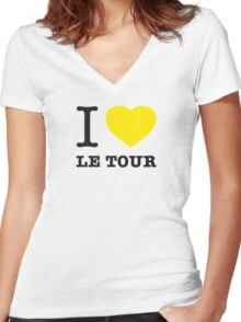 I ♥ LE TOUR Women's Fitted V-Neck T-Shirt