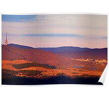 Sunset on Canberra - HDR Poster
