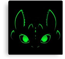 Neon Toothless  Canvas Print