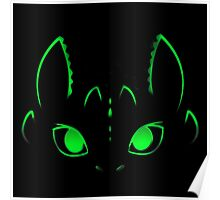 Neon Toothless  Poster