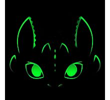 Neon Toothless  Photographic Print