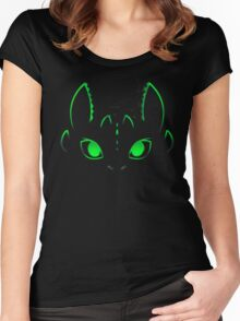 Neon Toothless  Women's Fitted Scoop T-Shirt
