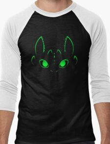 Neon Toothless  Men's Baseball ¾ T-Shirt