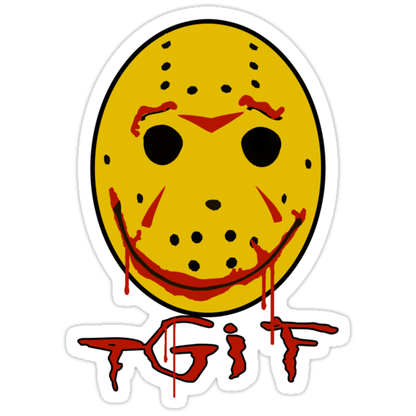 "TGIF - Thank God Its Friday! ""Friday the 13"" Jason Mask Shirt by TeeHut"