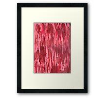RED FRENZY Framed Print
