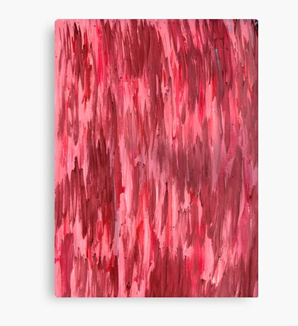 RED FRENZY Canvas Print