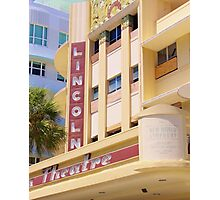 Lincoln Theater South Beach Florida Photographic Print