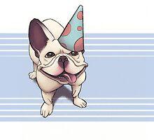 Birthday Frenchie by dezster