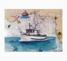 Cindy Lou FL Nautical Chart Boat Cathy Peek Kids Tee