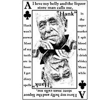 Charles Bukowski. Photographic Print