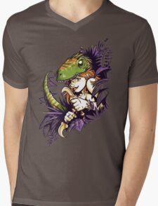 Clever Girl Mens V-Neck T-Shirt