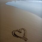 Heart on Sand by ecndrew