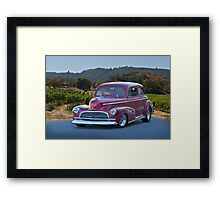 1946 Cheverolet Fleetmaster 2 Door Sedan Framed Print
