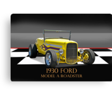 1930 Ford Model A Roadster w/ID Canvas Print